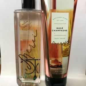 Bath and Body Works fragrance and body cream